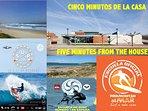ESCUELA DE SURF Y CENTRO RECEPTOR DE SURF A CINCO MIN.