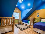 disney characters are all over this kids dream room