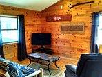 loft area with log futon