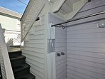 Outdoor shower (a MUST have for Key West) & stairs to private sundeck!