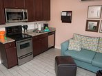 Totally renovated condo with full kitchen and 2 zone AC/Heat