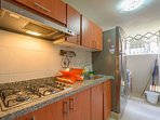 Relax and save money with Fully equipped kitchen with stove, microwave, blender, water filter.....