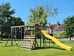 PLAY AREA SWINGS SLIDE CLIMBING FRAME 14FT TRAMPOLINE