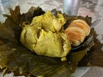 """You can not leave Bogota without trying the traditional and delicious breakfast """"Tamal"""" ..."""
