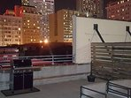 Grill area with Downtown NOLA view
