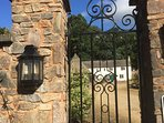 The gated entrance to the 3 acre Hamlet of Old Bridwell.