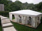 This tent is perfect for your vacation wedding.