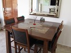 Indoor dining table with seating for 6