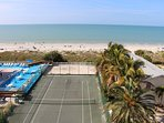 View from top floor Balcony in December - beaches, amenities & the Gulf - Pic 2.