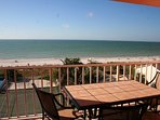 Private Balcony View - top floor wide panorama to Gulf & beaches from Living Room, Balcony & Master