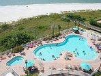 Sunset Vistas Main Recreation Heated Pool & Hot Tub Next to More White Beaches.