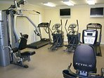 Workout, Exercise, Fitness Room with HDTV on First Floor Next To Business Center