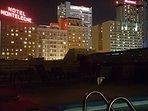 Night time Pool View