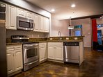 Fully-outfitted kitchen with amenities for 6 people.
