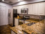 Granite countertops, stainless appliances, and local coffee!