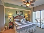 Enjoy marvelous views of the Gulf from the master bedroom!