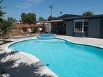 Nice backyard with Pool & Jacuzzi
