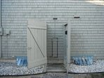 Hot and Cold Outdoor Shower