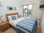 Lovely double bedroom with vaulted ceilings, great views, comfy bed and its own smart T.V.