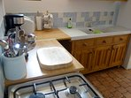 Kitchen area - includes over, hob, microwave, fridge/freezer, dishwasher. kettle, toaster and more.