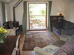 Sitting room to verandah