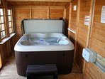 Your own hot tub for 4 persons