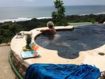 private infinity plunge pool & jacuzzi with amazing views ! watch the surfers by day and stars night