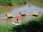 Nan de Panna river huts, dock, motor boat and kayaks
