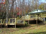 The house has over 1500 square feet of decking to take full advantage of the surrounding nature.
