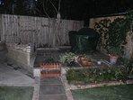 Rear garden and barbecue area