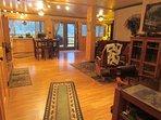 coming into the Bears Den, large studio,kitchen, desk, queen sleeper sofa,