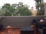 The West facing terrace of Casa Cho Co Latte is one of my favorite places to sit at sunset!