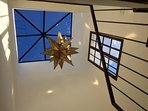 WE love the new glass roof in the stairwell of Casa Cho Co Latte.