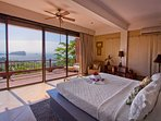 Master bedroom with view of Manuel Antonio National Park
