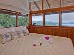 Top level bedroom with local monkey and views