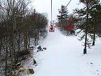 Community ski hill.