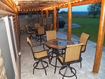 Walk out patio with seating