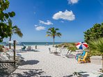 Great private beach area for guests - chairs, BBQ grills, umbrellas, beach floats & toys!
