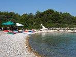 Zdrilca bay beach