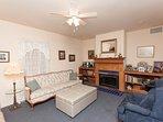 Sleeping Parlor with sleeper sofa and ottoman cot
