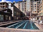 25 meter saline pool open all year