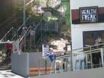 HEALTH FREAK CAFE - Next door. JACOBS LADDER- 242 steps up to kings Park.