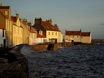 Pretty East Neuk villages with a plethora of cafes, galleries, shops and coastal walks