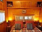Master bedroom in the caravan.