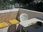 Balcony for al fresco breakfast