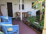 Back Door and sitting area to enjoy the garden