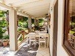 veranda dinning and relaxing area