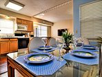 Kitchen table is a great place for a familymeal.