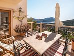 Your own spacious private balcony with views of both Kalkan & Kalamar bays. Dine al  fresco.