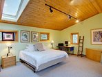 Sleep well in the Caretake Suite's King Bed